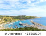 panorama of a port in gozo... | Shutterstock . vector #416660104