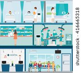 info graphic of medical... | Shutterstock .eps vector #416665318