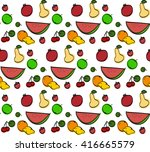 seamless pattern with hand... | Shutterstock .eps vector #416665579