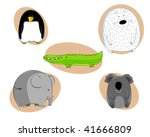 collection of five animals ... | Shutterstock .eps vector #41666809