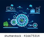 technology development... | Shutterstock .eps vector #416675314