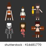 cute vector about thai ghost | Shutterstock .eps vector #416681770