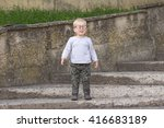 happy child with  glasses... | Shutterstock . vector #416683189