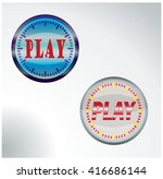 sticker button for play