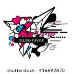 vector illustration of colorful ... | Shutterstock .eps vector #416692870