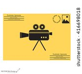 cinema camera icon | Shutterstock .eps vector #416698018