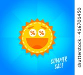 special offer summer sticker....   Shutterstock .eps vector #416701450