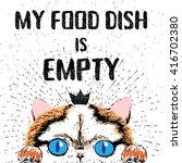 my food dish is empty. vector...   Shutterstock .eps vector #416702380