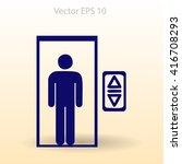 flat elevator icon. vector | Shutterstock .eps vector #416708293