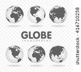 vector illustration of gray... | Shutterstock .eps vector #416710258