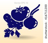 flat vegetables icon | Shutterstock .eps vector #416711200
