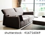 brown sofa in living room | Shutterstock . vector #416716069
