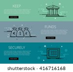 linear financial web banners... | Shutterstock .eps vector #416716168
