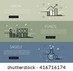 linear financial web banners... | Shutterstock .eps vector #416716174