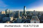 top view commercial building in ... | Shutterstock . vector #416717218