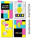 vector set of scandinavian... | Shutterstock .eps vector #416722726