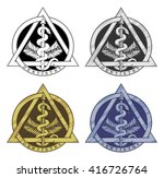 dentistry symbol   four... | Shutterstock . vector #416726764