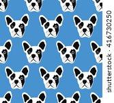 french bulldog seamless pattern | Shutterstock .eps vector #416730250