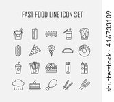 set of line icons with fast... | Shutterstock .eps vector #416733109