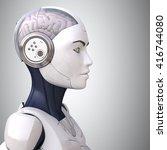 robot's head in profile | Shutterstock . vector #416744080