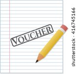 voucher with pencil strokes   Shutterstock .eps vector #416745166