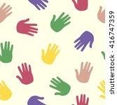 hand pattern  print  trace ... | Shutterstock .eps vector #416747359