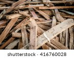 wood waste. piles of wood | Shutterstock . vector #416760028