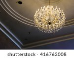 hanging lamp with golden light... | Shutterstock . vector #416762008