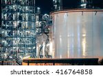 oil refinery factory at...   Shutterstock . vector #416764858