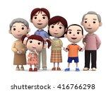 3d render portrait of six... | Shutterstock . vector #416766298