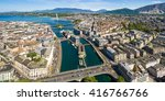 aerial view of leman lake   ... | Shutterstock . vector #416766766