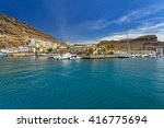 marina of puerto de mogan  a... | Shutterstock . vector #416775694