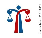 scales logo  law logo | Shutterstock .eps vector #416778190