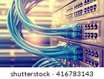 network cable and switch data... | Shutterstock . vector #416783143
