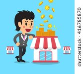 cartoon businesswoman earning...