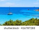 Catamaran Boat In Beautiful Ba...