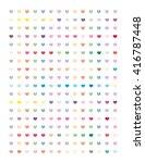 hearts set minimalistic flat... | Shutterstock .eps vector #416787448