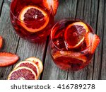 rum punch with blood orange and ...   Shutterstock . vector #416789278