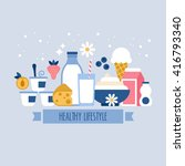 healthy lifestyle concept with...   Shutterstock .eps vector #416793340