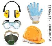 vector protective equipment | Shutterstock .eps vector #416795683