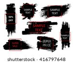 set of black paint  ink brush... | Shutterstock .eps vector #416797648