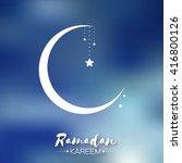 dark blue ramadan kareem... | Shutterstock .eps vector #416800126