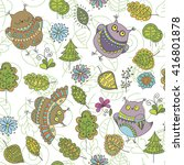 seamless vector pattern with... | Shutterstock .eps vector #416801878