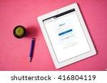 bangkok thailand   may 7 2016 ...   Shutterstock . vector #416804119