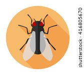 fly icon flat vector insect...