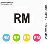 malaysian ringgit sign icon... | Shutterstock .eps vector #416810086