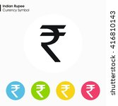 indian rupee sign icon.money... | Shutterstock .eps vector #416810143