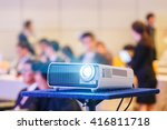 close up projector in... | Shutterstock . vector #416811718