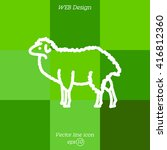 web line icon. sheep  livestock