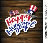 happy memorial day design. eps... | Shutterstock .eps vector #416829814